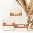 House of products HOP Guestbook - Ivory - Linen cover