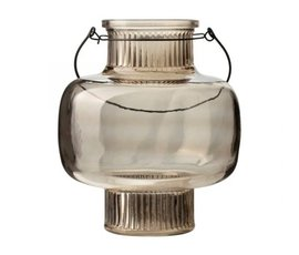 Gusta Gusta glass lantern brown