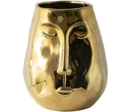 Gusta Gusta golden vase with face
