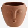 Madam Stoltz Madam Stoltz bloempot met gezicht terracotta