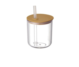 Kinto Kinto Bonbo cup with straw yellow