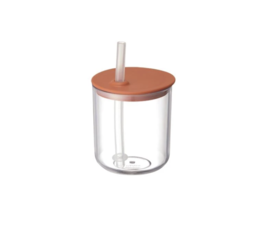 Kinto Kinto Bonbo cup with straw orange