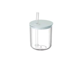 Kinto Kinto Bonbo cup with straw gray / blue