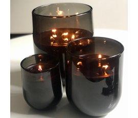 Oscar Candles Oscar Candles mondgeblazen L zwart
