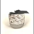 Oscar Candles Oscar Candles S brown-white cowhide grey pot
