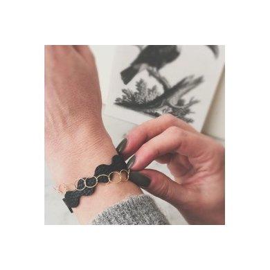 Lisa la pelle Lisa la pelle armband Forever zwart