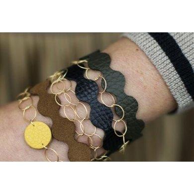 Lisa la pelle Lisa la pelle bracelet Forever black