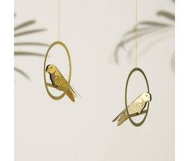 Another Studio Messing vogeldecoratie