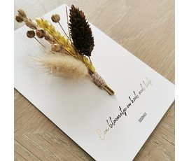 Cocoomade Cocoomade flowercard Bloemetje en veel liefs