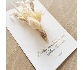 Cocoomade Cocoomade flowercard Welkom klein wonder