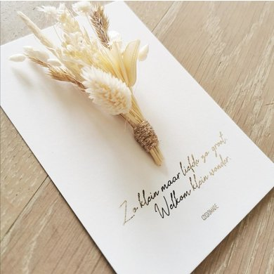 Cocoomade Cocoomade flowercard welcome little wonder