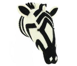 Fiona Walker Fiona Walker felt animal head zebra mini