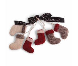 En Gry & Sif En gry & sif kerst sokjes set van 3