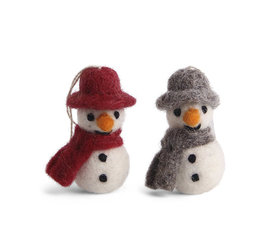 En Gry & Sif En gry & sif sneeuwpopjes met sjaal set van 3