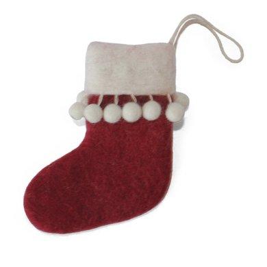 En Gry & Sif En gry & sif mini sokken rood pompons
