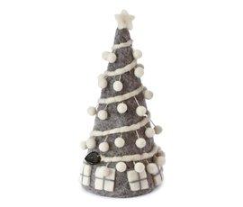 En Gry & Sif En gry & sif kerstboom grijs met pom poms