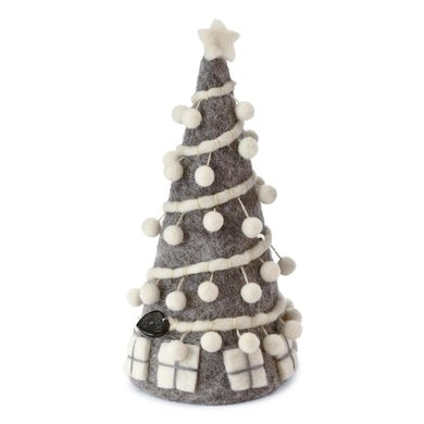 En Gry & Sif En gry & sif christmas tree grey with pom poms