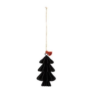 Madam Stoltz Madam Stoltz kerstboom zwart hang 12,5cm