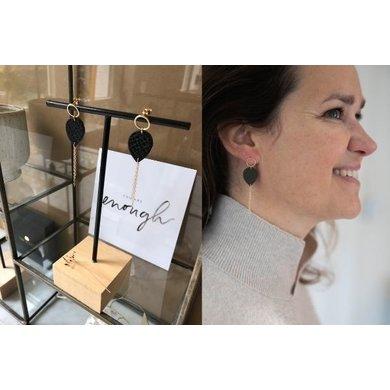Lisa la pelle Lisa La Pelle earrings Joy with mini me taupe