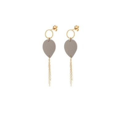 Lisa la pelle Lisa La Pelle earrings Joy with mini me taupe