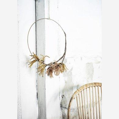 Madam Stoltz Madam Stoltz ring 40cm with jute cord