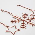 House Doctor Ornament sneeuwvlokken & sterren set van 3