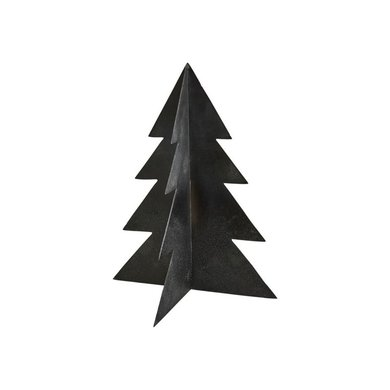 House Doctor Black Christmas tree Glizz iron H26