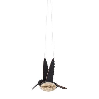 Bloomingville Bloomingville ornament vogel zwart