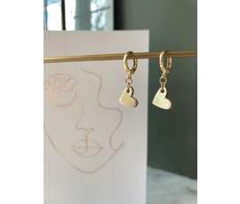 Lisa la pelle Lisa La Pelle earrings true to your heart gold