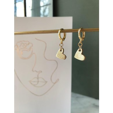 Lisa la pelle Lisa La Pelle earrings true to your heart gold