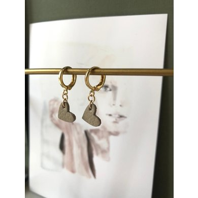 Lisa la pelle Lisa La Pelle earrings true to your heart taupe