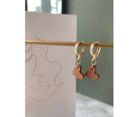 Lisa la pelle Lisa La Pelle earrings true to your heart brown