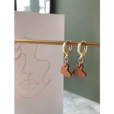 Lisa la pelle Lisa La Pelle earrings true to your heart brown