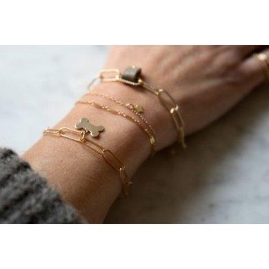 Lisa la pelle Lisa la pelle bracelet Grace my everything large link bone