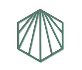 Zone Denmark Zone pan coaster Shell Emerald