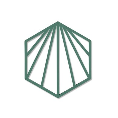 Zone Denmark Zone pannenonderzetter Shell Emerald
