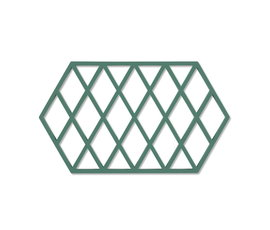 Zone Denmark Zone pan coaster Harlequin Emerald
