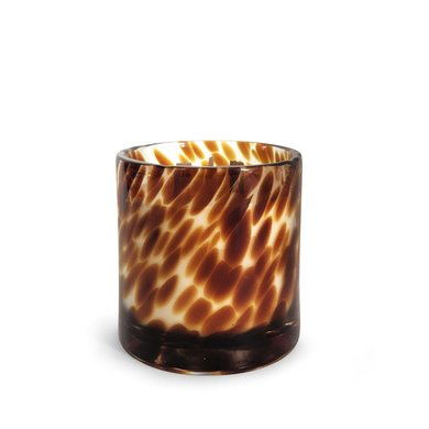 Oscar Candles Oscar Candles Leopard large black wax