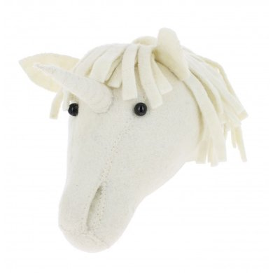 Fiona Walker Fiona Walker felt animal head baby Unicorn
