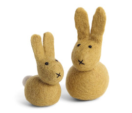 En Gry & Sif And Gry & Sif bunny set of 2 yellow