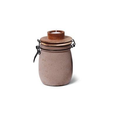 Gusta Leeff tea light holder Teun taupe