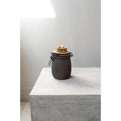 Gusta Leeff tea light holder Teun grey