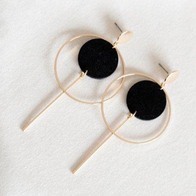 Studio Nok Nok Studio Nok Nok oorbellen Basic.05 black