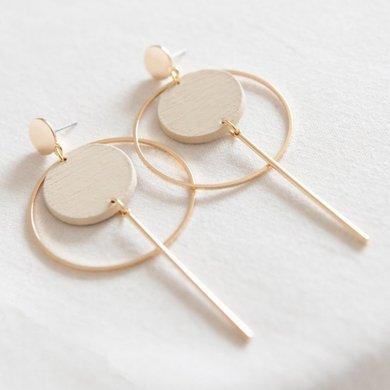 Studio Nok Nok Studio Nok Nok earrings Basic.05 beige