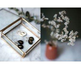 Lisa la pelle Lisa la Pelle earrings leaf mini me black