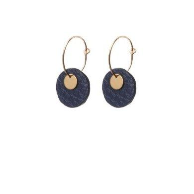 Lisa la pelle Lisa la pelle earrings mini eye on you blue