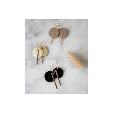 Lisa la pelle Lisa la Pelle earrings confetti me or you taupe