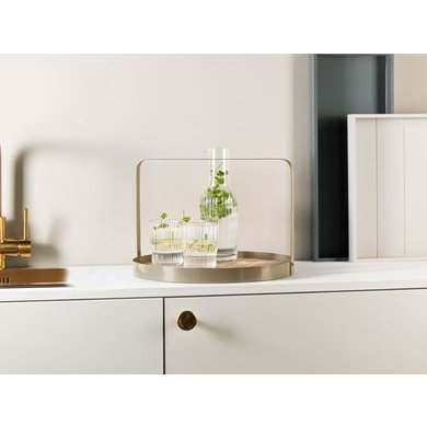 Gusta Gusta serving tray beige with bamboo