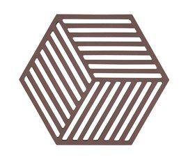 Zone Denmark Zone Denmark pan coaster Hexagon Chocolate