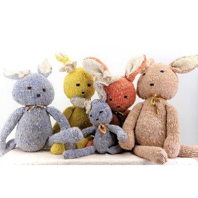 Kenana Nitters Kenana Knitters knuffel konijn Ditsy blauw M